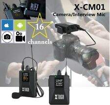 Wireless Microphone XTUGA X-CM01 UHF Lapel Mic System with 16 Selectable Channel