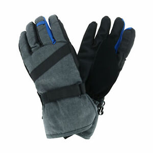 New Grand Sierra Kids' 8-12 Heathered Snowboard Glove with Colorful Fingers