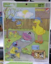 "Sesame Street Frame Tray Puzzle ~ Spring ~ 11"" x 14"" 1991"