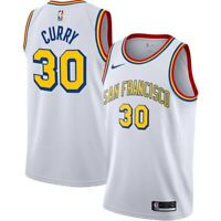 2019 Nike Golden State Warriors Stephen Curry Hardwood Classics Swingman Jersey