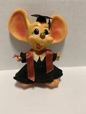 Vintage 1970 Roy Disney Huron Products Hard Plastic Big Ears Graduation Mouse