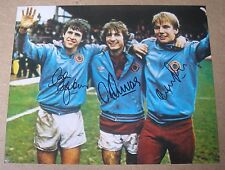 "COWANS, SHAW & GIBSON Aston Villa HAND SIGNED 10"" X 8"" Photo COA PROOF"