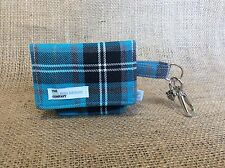Tartan DOG Marsupio, Blu Turchese e Grigio Tartan-DOG Poo Bag Carrier