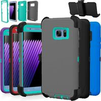 Samsung Galaxy Note 4 5 Case Shockproof Cover (Fits Otterbox Defender Clip)