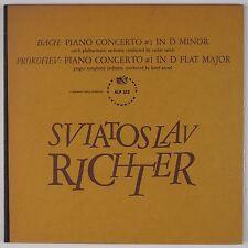 BACH, PROKOFIEV: Piano Concerto #1 RICHTER Artia Orig LP ALP 123 NM-