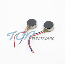 50PCS Coin Flat Vibrating Micro Motor DC 3V 8mm For Pager and Cell Phone Mobile