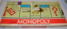 MONOPOLY French BOARD GAME 1980s