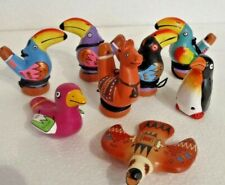 More details for hand painted clay whistle from peru assorted birds & animals