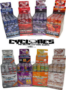 Cyclone Pre Rolled Clear Transparent Flavoured Cones 1 3 6 12 24 Tube 11 Flavour