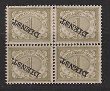Netherlands Indies Nederlands Indie dienst 10f MLH sheet KOPSTAAND service stamp