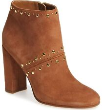 SAM EDELMAN Ankle Booties Chandler Zip Saddle Suede Heeled Leather Boots 7 M