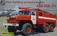 ZZ Modell 72009 AZ-40 Ural-375 fire fighter Pumped-Tanker in 1:72