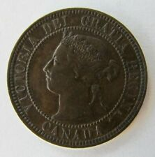 1897 Victoria Canadian One (1) Cent Coin - AU