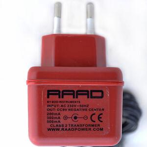 RAAD Euro Reguliert Netzteil Dc 9V Adapter Gitarren Effekt Pedal Negative Spitze