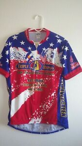 """Voler Cycling Jersey 2002 Triple Bypass Colorado """"Let's Roll"""" Eagle Large L"""