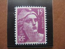 FRANCE neuf n° 724 MARIANNE DE GANDON  15 F lilas-rose typographié
