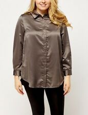 BNWT NEW LOOK CURVE EMBROIDERED BACK SILKY SHIRT/TOP SIZE 22 24 26 PLUS SIZE♡♡♡