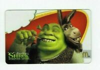 McDonalds Gift Card - Shrek & Donkey / Dreamworks, Forever After 2010 - No Value