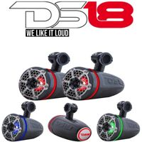 "DS18 CF6TPB Hydro 6.5"" Wakeboard Tower Speakers ATV/UTV/Boat + RGB LED Pair"