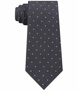 Calvin Klein Mens Reflective Dot Self-tied Necktie, Black, One Size