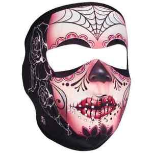 Zan Headgear Street Motorcycle Riders Full Face Neoprene Masks - Sugar Skull