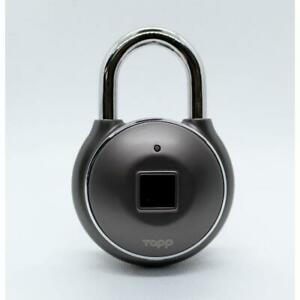 Tapp One Plus Smart Fingerprint Padlock w/ Zinc Alloy Metal Body and Reinforced
