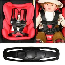 2x Baby Car Safety Seat Strap Child Toddler Chest Harness Clip Safe Buckle Black