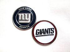 NFL  New York Giants Golf Ball Marker Enamel Metal Team Logo 2 Sided Hat