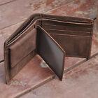 New Men's Genuine Leather Bifold Wallet Vintage Coin Purse Short Card Holder