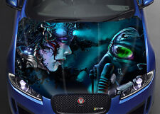 Cyber Couple Car Bonnet Wrap Full Color Vinyl Sticker Decal Fit Any Car