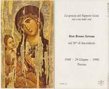 DON BRUNO SERENA 50°SACERDOZIO TREVISO - SANTINO HOLY CARD