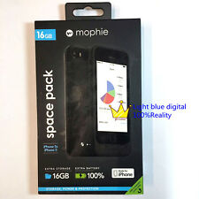 Genuine MOPHIE space pack 1700mah 16GB memory cool black for iphone se/iphone5s
