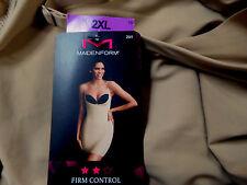 Maidenform Body Shaper Slip Sz 2X Firm Control Built in Panty Wear Your Own Bra