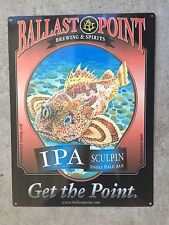 Ballast Point Sculpin American IPA Craft Beer Brewery Fish Poster Metal Sign Lrg