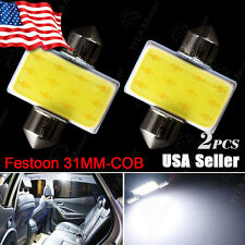 2X 6000K White COB LED Map/Dome Interior Light Bulb 31MM Festoon DE3175 2015 New