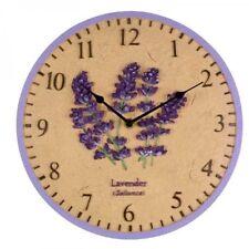 "Lavender Garden Clock Outdoor Outside Indoor Wall Bird Kitchen Gift 30cm (12"")"