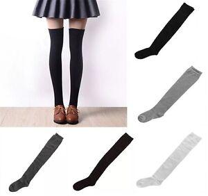 Girls Over The Knee Cotton School Socks Sizes Adult 4-7 UK Over Knee High Socks.