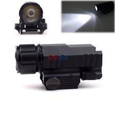 Mini 200L LED Tactical Flashlight Strobe Light Durable w/ Picatinny Rail Quick