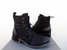 UGG COLLECTION TESA NERO BLACK LEATHER/ SHEARLING LINED BOOTS, US 9/ EUR 40 ~NIB