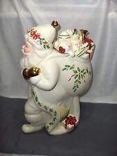 Lenox China Cookie Jar 1999 Holiday Santa Bag Of Toys NICE