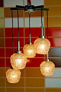 Vintage Ceiling Light Kaskadenlampe Glass Lamp Pendulum 70er