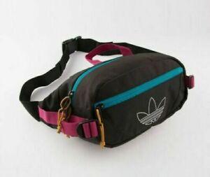 NEW adidas Originals Utility Crossbody Fanny Pack Waist Bag (Black/Berry) CL5460