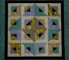 Illusion Unfinished  Baby Quilt Top  Crib Lap 41.5 Sq.
