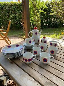Mitterteich Bavaria Kaffeeservice 22 teilig - Tee - Porzellan - Abstrakt