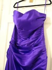 lovely cadbury purple  bridesmaid / prom dress-size 8 ALSO HAVE A SIZE 10