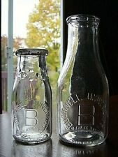 2) 1940-50s BUCKNELL UNIVERSITY Lewisburg PENNSYLVANIA dairy milk bottle COLLEGE