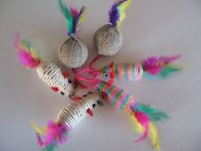 Cat Toy Lot 4 Rattle Big Mice+++1 Pack Balls with Catnip / Pet mouse brand new