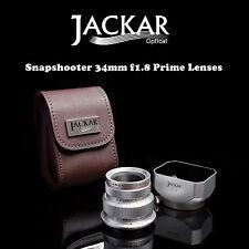 Jackar Snapshooter 34mm F1.8 Prime Lens for E Mount Sony NEX 7 6 5R 5N F3  C3 5