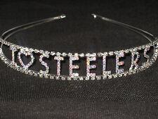 I LOVE STEELERS Crystal Rhinestone Hairband Headband*NFL Pittsburgh Steelers