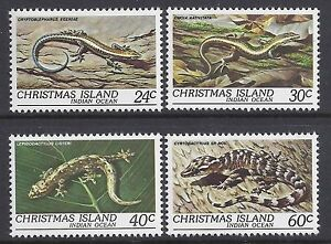 1981 CHRISTMAS ISLAND REPTILES FINE MINT MNH/MUH SET OF 4